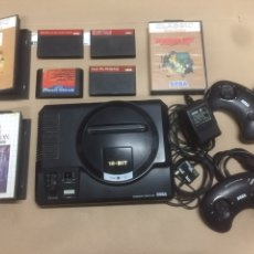 Videojuegos y Consolas: CONSOLA SEGA MEGA DRIVE CON MANDOS Y 4 JUEGOS. Lote 197837203