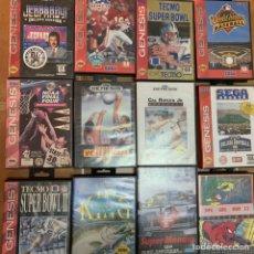 Videojuegos y Consolas: LOTE JUEGOS SEGA GENESIS ( MEGA DRIVE ) DEPORTES. Lote 198596086