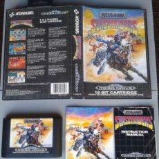 Videojuegos y Consolas: SEGA MEGA DRIVE SUNSET RIDERS KONAMI COMPLETO CAJA Y MANUAL BOXED CIB PAL R10426. Lote 198792836