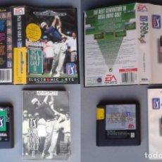 Videojuegos y Consolas: LOTE SEGA MEGA DRIVE PGA TOUR GOLF 96 Y PGA TOUR GOLF II COMPLETOS BOXED CIB PAL R10432. Lote 198793312