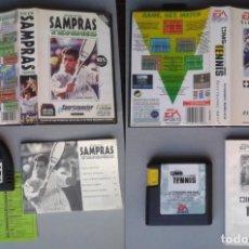Videojuegos y Consolas: LOTE SEGA MEGA DRIVE TENNIS SAMPRAS + INTERNATIONAL TOUR COMPLETOS BOXED CIB PAL R10433. Lote 198793385