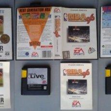 Videojuegos y Consolas: LOTE SEGA MEGA DRIVE EA SPORTS SOCCER NBA 96 NHL 96 COMPLETOS BOXED CIB PAL R10434. Lote 198793477