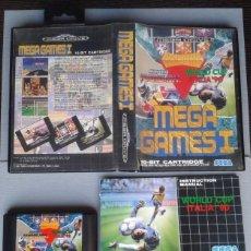 Videojuegos y Consolas: SEGA MEGA DRIVE MEGA GAMES I HANG ON Y MAS COMPLETO 3 MANUALES CIB PAL LEER R10436. Lote 198793591