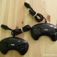 Videojuegos y Consolas: LOTE DE 2 MANDOS PARA CONSOLA SEGA MEGA DRIVE. Lote 198837296