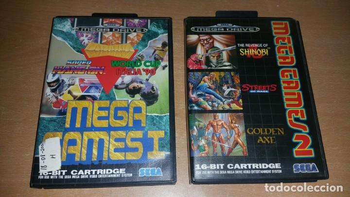 MEGA GAMES I II SHINOBI GOLDEN AXE STREETS RAGE HANG ON ITALIA 90 MEGADRIVE (Juguetes - Videojuegos y Consolas - Sega - MegaDrive)