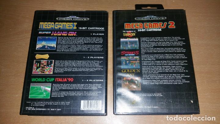Videojuegos y Consolas: MEGA GAMES I II SHINOBI GOLDEN AXE STREETS RAGE HANG ON ITALIA 90 MEGADRIVE - Foto 2 - 200872732