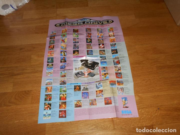 Videojuegos y Consolas: Poster Original SONIC + Catalogo de juegos SEGA MEGADRIVE - Foto 2 - 276695873