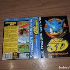 Videojogos e Consolas: SONIC 3D PORTADA JUEGO ORIGINAL SEGA MEGADRIVE PAL ESPAÑA. Lote 203166593