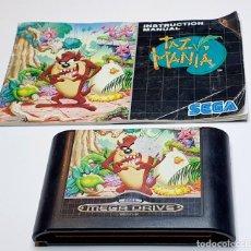 Videojogos e Consolas: TAZMANIA *** JUEGO SEGA MEGADRIVE CON INSTRUCIONES *** SIN CAJA. Lote 204477225