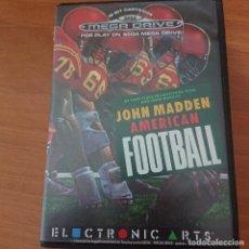 Videojuegos y Consolas: JOHN MADDEN AMERICAN FOOTBALL MEGA DRIVE SIN MANUAL. Lote 204615260