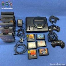Videojuegos y Consolas: CONSOLA SEGA 16 BIT + 6 JUEGOS - SONIC - NBA - DESERT STRIKE - DOLPHIN - MEGA GAMES I - STREET II. Lote 205682466
