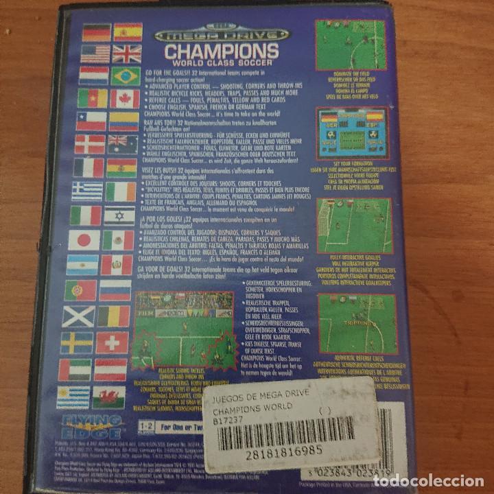 Videojuegos y Consolas: CHAMPIONS WORLD MEGA DRIVE SIN MANUAL - Foto 2 - 207032328