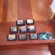 Videojuegos y Consolas: ANTIGUOS JUEGOS SEGA MEGADRIVE 12 JUEGOS EN 8 CARTUCHOS MAS 1 MANUAL. Lote 207602163