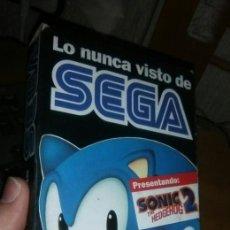 Videojuegos y Consolas: VHS: LO NUNCA VISTO DE SEGA. SONIC 2. Lote 208403560