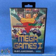 Videojuegos y Consolas: VIDEOJUEGO SEGA MEGA DRIVE 16 BIT - MEGA GAMES I + CAJA + INSTRUCCIONES. Lote 210639765