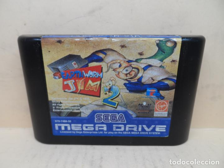 SEGA MEGADRIVE EARTHWORM JIM 2 ESP (Juguetes - Videojuegos y Consolas - Sega - MegaDrive)