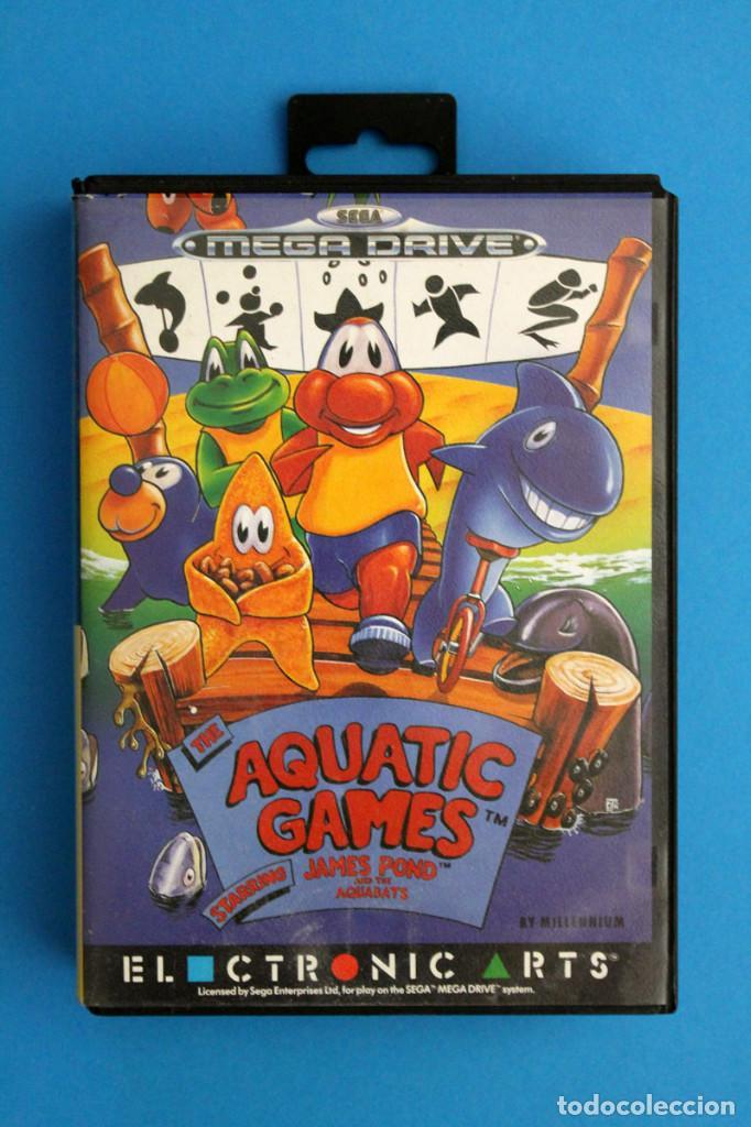 SEGA MEGADRIVE - AQUATIC GAMES - PAL ESP (Juguetes - Videojuegos y Consolas - Sega - MegaDrive)