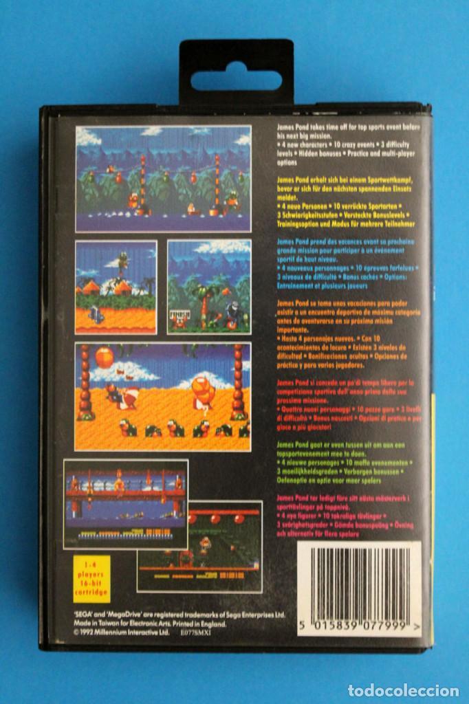 Videojuegos y Consolas: Sega Megadrive - Aquatic Games - PAL ESP - Foto 4 - 211956862
