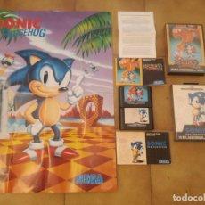 Jeux Vidéo et Consoles: LOTE SONIC MEGA DRIVE. Lote 212117907