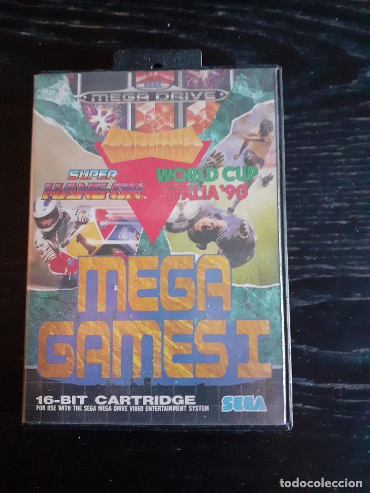 MEGA GAMES 1 ** 3 JUEGOS EN 1 ** SUPER HANG ON - WORLD CUP ITALIA 90 - COLUMNS **¡¡ EN BUEN ESTADO ! (Juguetes - Videojuegos y Consolas - Sega - MegaDrive)