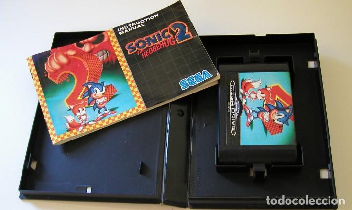Videojuegos y Consolas: SONIC 2 THE HEDGEHOG JUEGO PARA SEGA MEGA DRIVE COMPLETO Y TOTALMENTE ORIGINAL MADE IN JAPAN 1992 - Foto 2 - 216499746