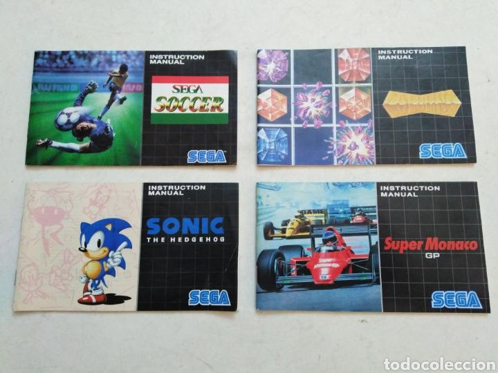 LOTE DE 4 MANUALES DE INSTRUCCIONES ( SEGA ) (Juguetes - Videojuegos y Consolas - Sega - MegaDrive)