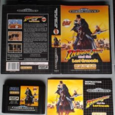 Videojuegos y Consolas: SEGA MEGA DRIVE INDIANA JONES AND THE LAST CRUSADE COMPLETO BOXED CIB PAL R11518. Lote 218384736