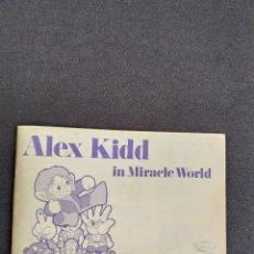 Videojuegos y Consolas: SEGA MEGA DRIVE / MEGADRIVE ~ ALEX KIDD IN THE MIRACLE WORLD ~ INSTRUCCIONES ORIGINALES. Lote 218573435