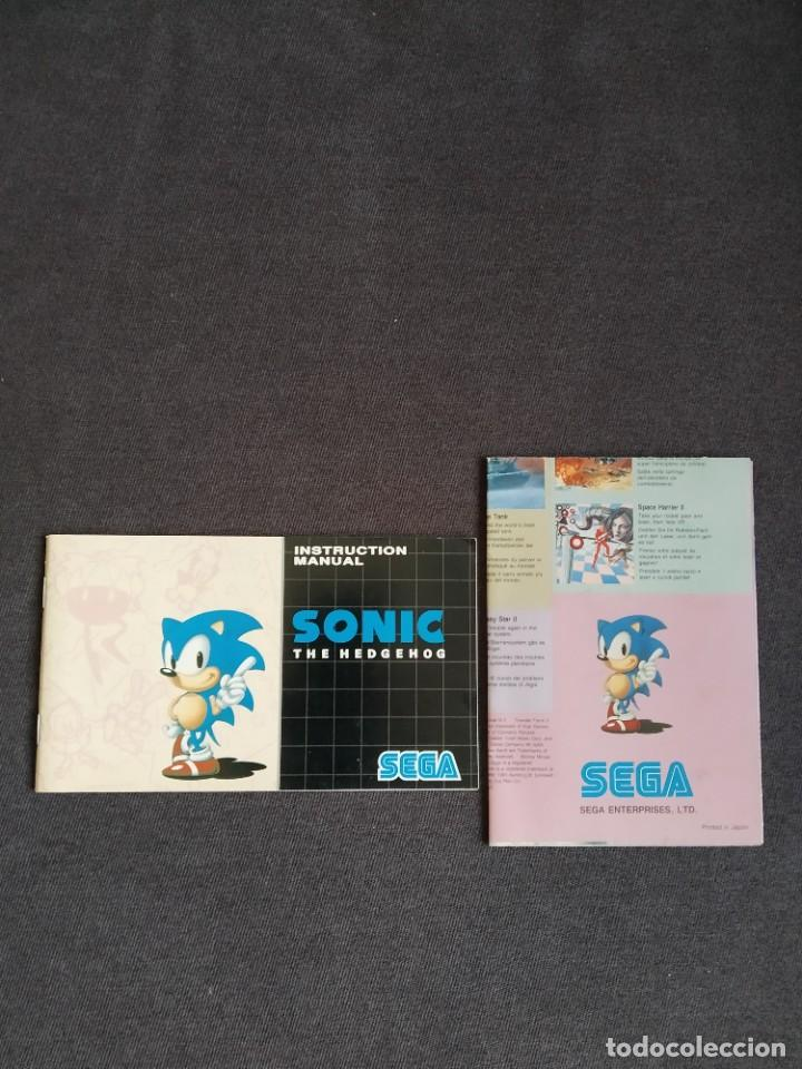SEGA MEGA DRIVE / MEGADRIVE ~ INSTRUCCIONES ORIGINALES SONIC THE HEDGEHOG ~ (Juguetes - Videojuegos y Consolas - Sega - MegaDrive)