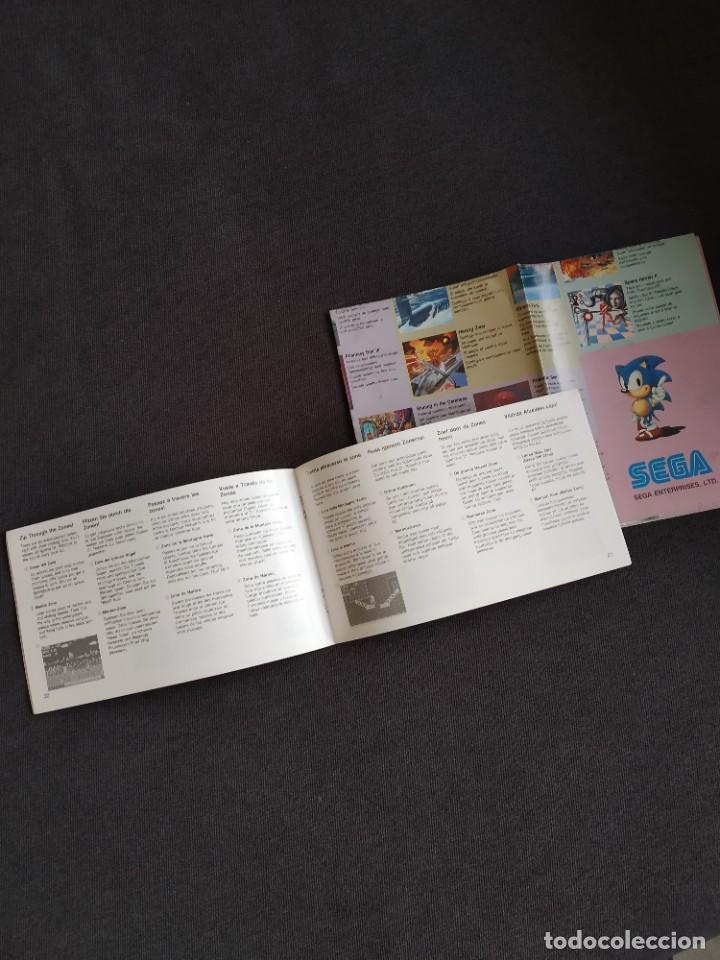 Videojuegos y Consolas: SEGA MEGA DRIVE / MEGADRIVE ~ INSTRUCCIONES ORIGINALES SONIC THE HEDGEHOG ~ - Foto 2 - 218574216