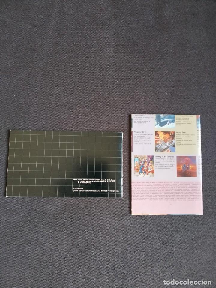 Videojuegos y Consolas: SEGA MEGA DRIVE / MEGADRIVE ~ INSTRUCCIONES ORIGINALES SONIC THE HEDGEHOG ~ - Foto 3 - 218574216