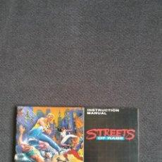 Videojogos e Consolas: SEGA MEGA DRIVE/ MEGADRIVE ~ INSTRUCCIONES ORIGINALES STREETS OF RAGE ~. Lote 218574581