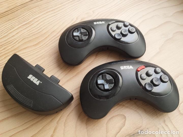 2X MANDO INALÁMBRICO SEGA MEGA DRIVE + RECEPTOR (Juguetes - Videojuegos y Consolas - Sega - MegaDrive)