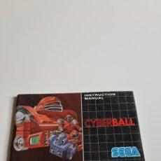 Videojuegos y Consolas: INSTRUCTION Y MANUAL CYBERBALL. Lote 218672326