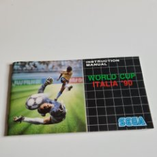 Videojuegos y Consolas: INSTRUCTION Y MANUAL WORLD CUP ITALIA 90. Lote 218673130