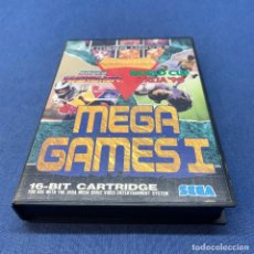 Videojuegos y Consolas: VIDEOJUEGO SEGA MEGA DRIVE - MEGA GAMES I , SUPER HANG ON / WORLD CUP ITALIA 90 + CAJA. Lote 218822630
