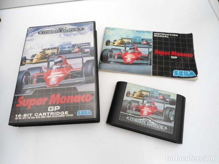 SUPER MONACO - MEGA DRIVE - SEGA MEGADRIVE - COMPLETO CON INSTRUCCIONES BUEN ESTADO (Juguetes - Videojuegos y Consolas - Sega - MegaDrive)