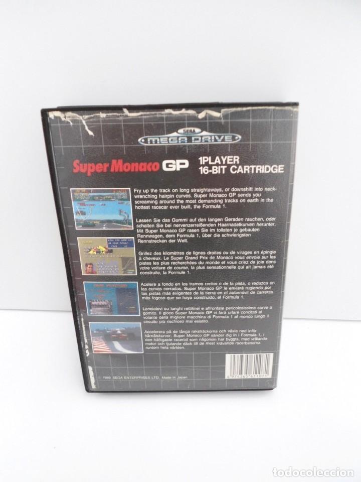 Videojuegos y Consolas: SUPER MONACO - MEGA DRIVE - SEGA MEGADRIVE - COMPLETO CON INSTRUCCIONES BUEN ESTADO - Foto 3 - 262541680