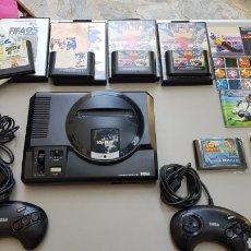 Videojogos e Consolas: MEGADRIVE COMPLETA +2 MANDOS+6 JUEGOS FUNCINANDO PERFECTAMENTE. Lote 220569150