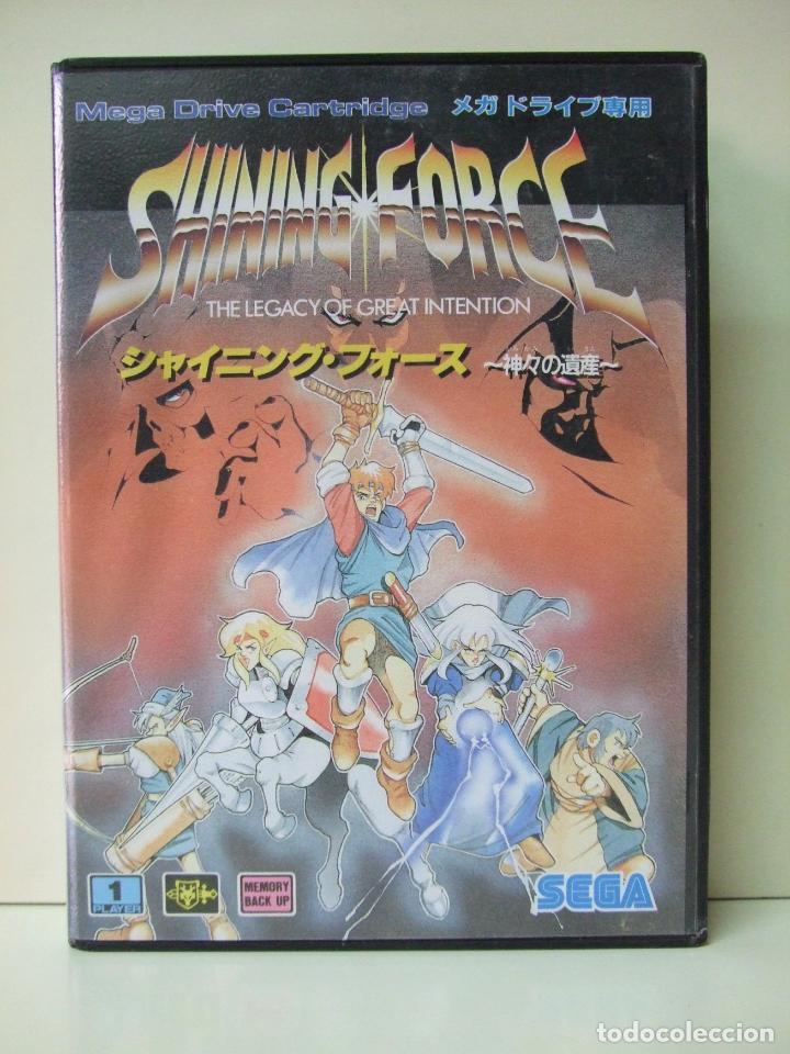 SHINING FORCE - JUEGO CARTUCHO CONSOLA SEGA MEGADRIVE + GUIA MANUAL + MAPA DESPLEGABLE - EN JAPONES (Juguetes - Videojuegos y Consolas - Sega - MegaDrive)