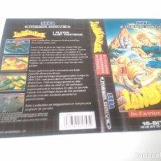 Videojuegos y Consolas: LANDSTALKER MEGADRIVE CARATULA COVER REMPLAZO NINTENDO SONY SEGA MEGADRIVE DREAMCAST SATURN. Lote 221687626