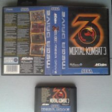 Videojuegos y Consolas: SEGA MEGA DRIVE MORTAL KOMBAT 3 CARTUCHO + CAJA SIN MANUAL BOXED PAL R11290. Lote 213047597