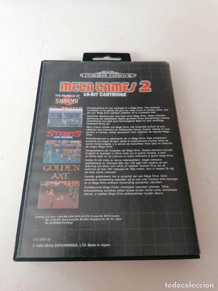 Videojuegos y Consolas: Mega Games 2 Juego Sega Megadrive con estuche y manual - Foto 2 - 221949857