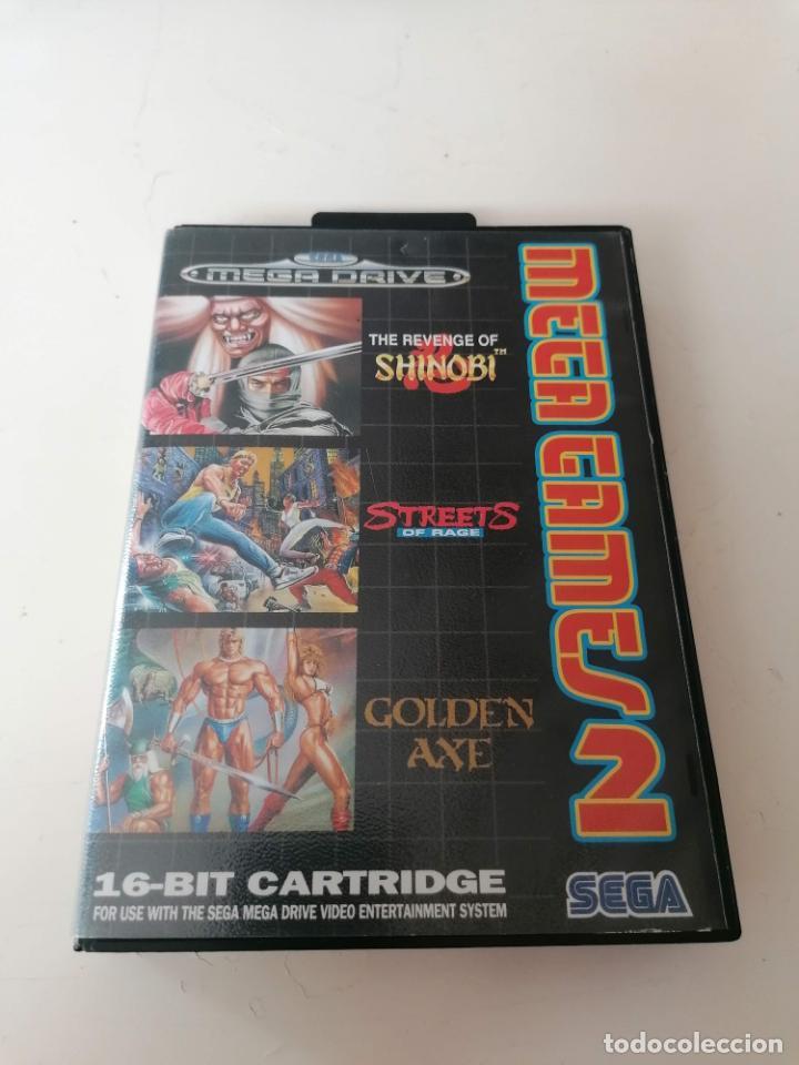 MEGA GAMES 2 JUEGO SEGA MEGADRIVE CON ESTUCHE Y MANUAL (Juguetes - Videojuegos y Consolas - Sega - MegaDrive)