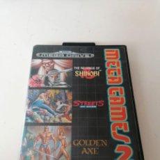 Videojuegos y Consolas: MEGA GAMES 2 JUEGO SEGA MEGADRIVE CON ESTUCHE Y MANUAL. Lote 221949857