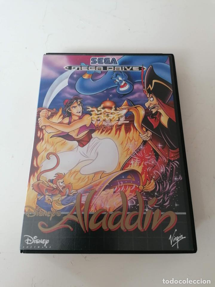 ALADDIN JUEGO SEGA MEGADRIVE CON ESTUCHE Y MANUAL (Juguetes - Videojuegos y Consolas - Sega - MegaDrive)