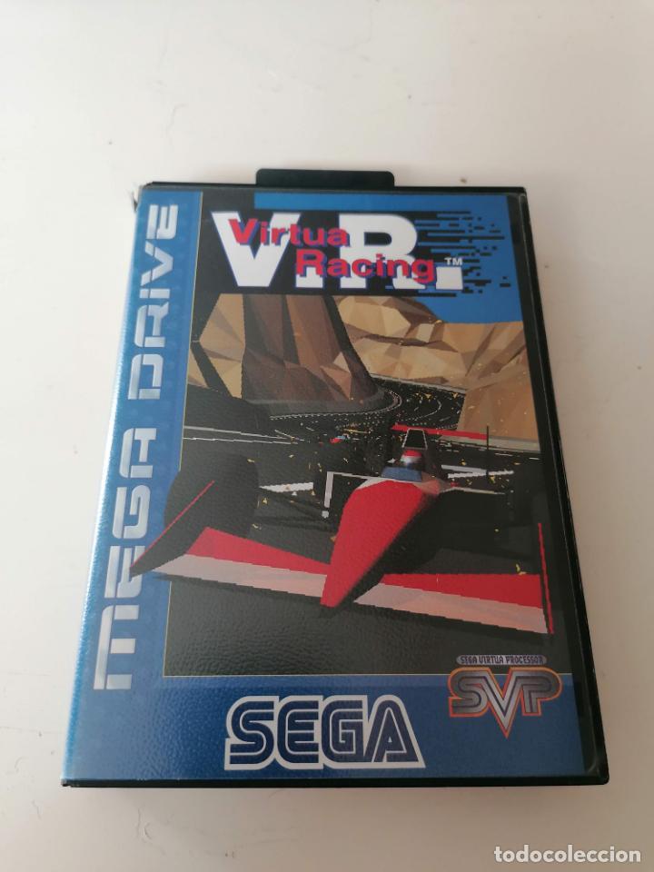 V.R. VIRTUA RACING JUEGO SEGA MEGADRIVE CON ESTUCHE Y MANUAL (Juguetes - Videojuegos y Consolas - Sega - MegaDrive)