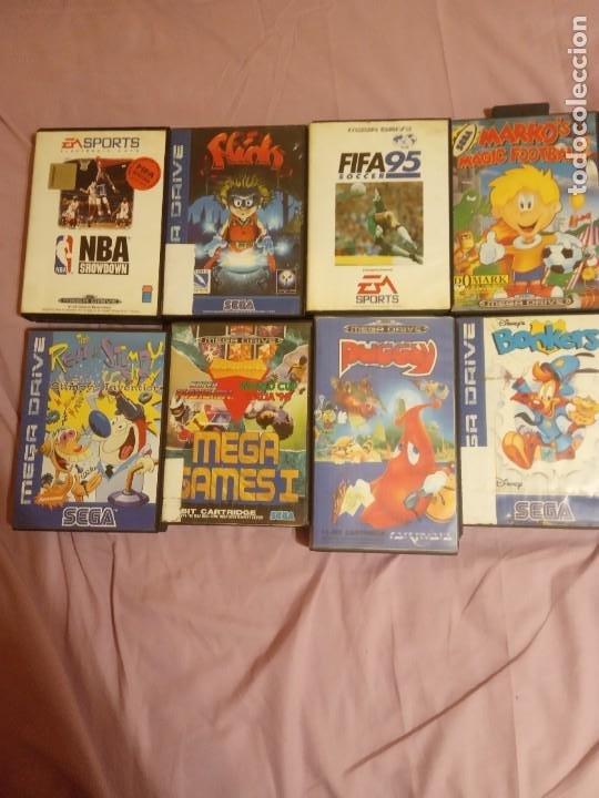 LOTE DE OCHO JUEGOS PARA CONSOLA SEGA MEGA DRIVE (Juguetes - Videojuegos y Consolas - Sega - MegaDrive)