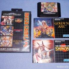Videojuegos y Consolas: JUEGO CON ESTUCHE E INSTRUCCIONES SEGA MEGADRIVE MEGA GAMES 2 SHINOBI GOLDEN AXE EN MUY BUEN ESTADO. Lote 222478993