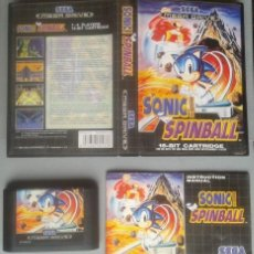 Videojuegos y Consolas: SEGA MEGA DRIVE SONIC SPINBALL COMPLETO CON CAJA MANUAL BOXED CIB PAL R11723. Lote 222526256